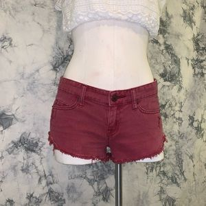 Urban Outfitters low rise maroon shorts